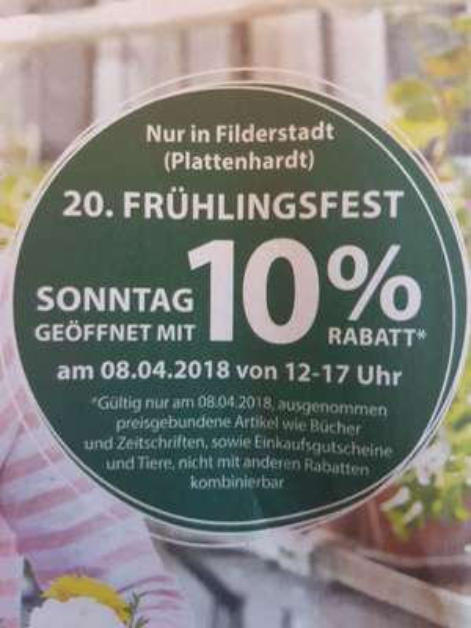 (Lokal) 10% bei Dehner in 70794 Filderstadt