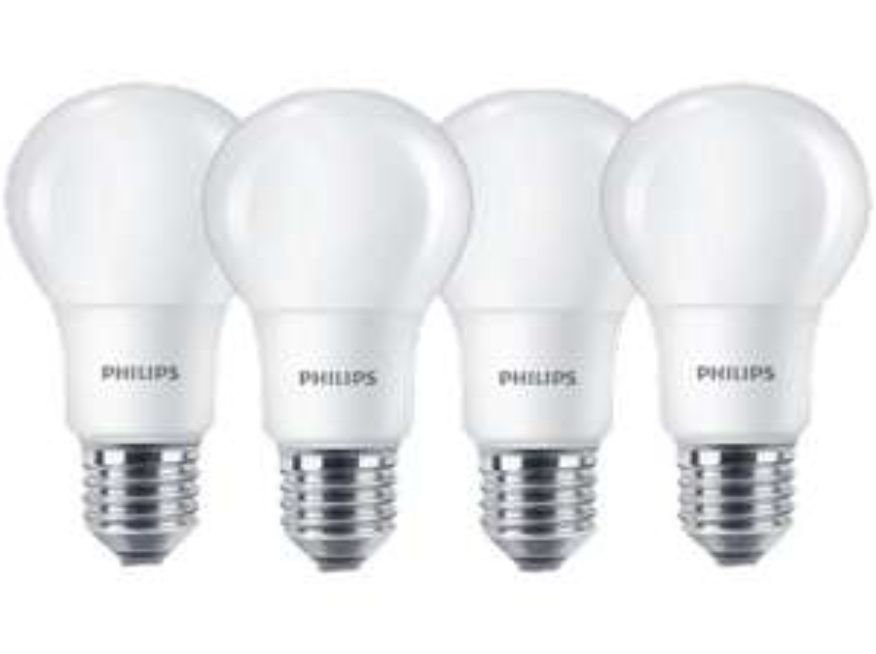 4x Philips LED E27 (806lm, 2700K, 80Ra) für 7€ versandkostenfrei [Mediamarkt]