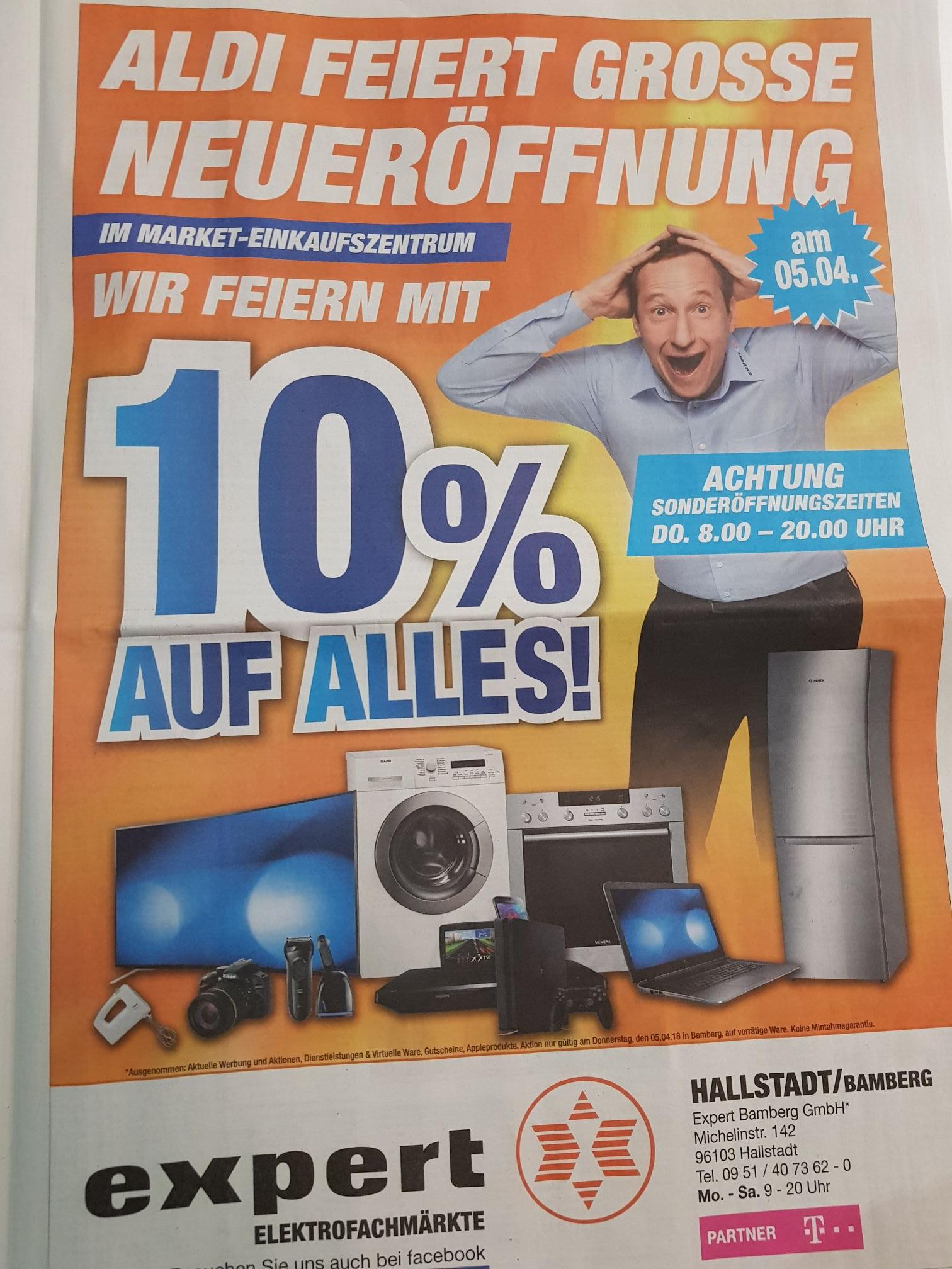 [Lokal] 10% auf Alles im Expert Hallstadt/Bamberg. Nur am 05.04.18