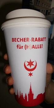 [lokal - Halle (Saale)] Einweg- gegen Mehrwegbecher - To Go Kaffee Becher Alternative abstauben