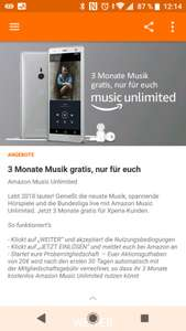 Amazon Music Unlimited - 3 Monate Gratis - SONY XPERIA ONLY