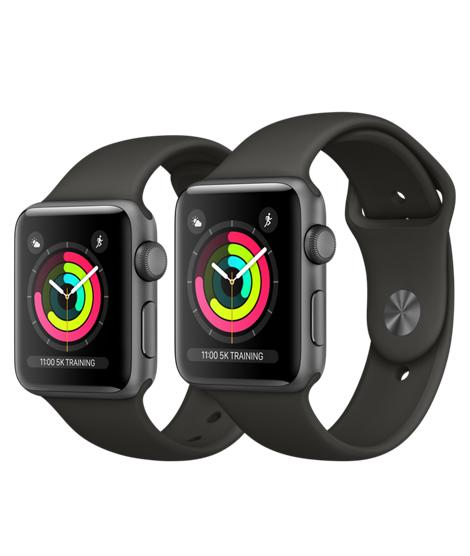 [Schweiz Digitec] Apple Watch Series 3 42mm (Aluminiumgehäuse, Space Grau, mit Sportarmband, Grau)