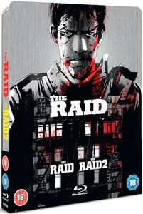 The Raid 1 & 2 - Limited Edition Steelbook (Blu-ray) (OT) für 10,29€ (Zavvi)