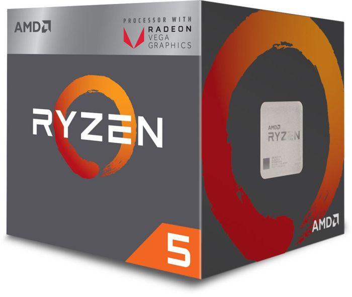 AMD Ryzen 5 2400G (Sockel AM4, inkl. Vega 11 Grafikchip - APU -)