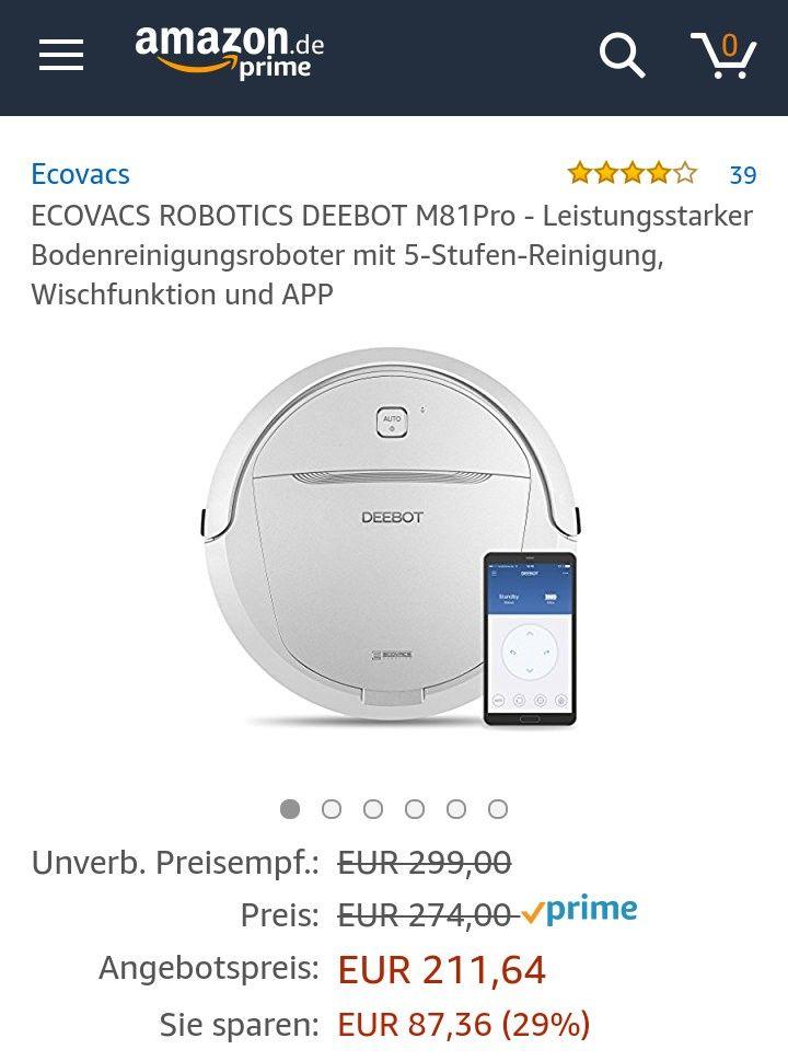 Amazon Blitz!!! ECOVACS ROBOTICS DEEBOT M81Pro