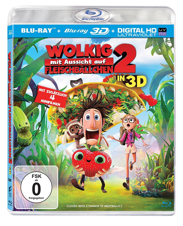Wolkig mit Aussicht auf Fleischbällchen 2 3D (3D Blu-ray + 2D + UV Copy) für 8,98€ (Dodax)