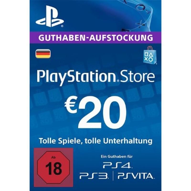 PSN Guthaben - 20 Euro (De)