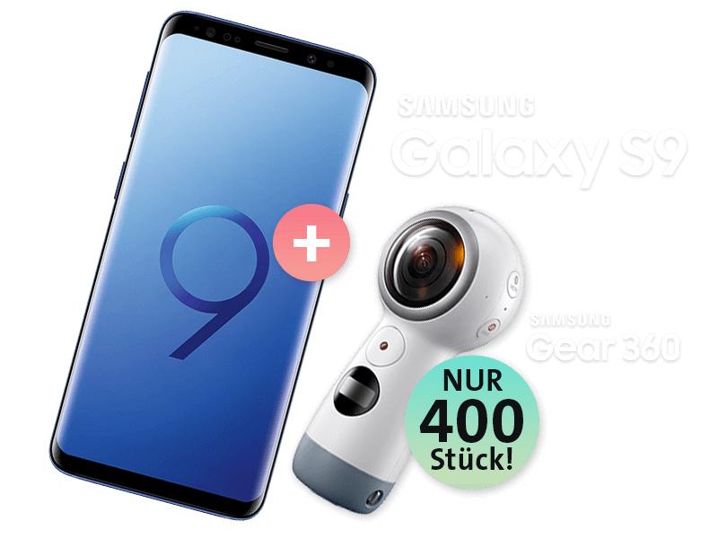 Samsung Galaxy S9 inkl. Gear 360 / o2 Free M / Sparhandy