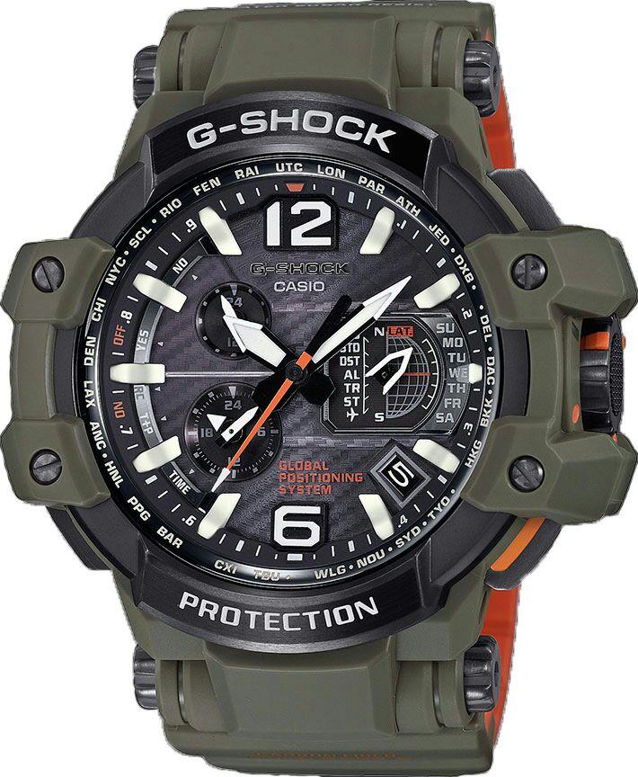 Casio Premium G-Shock GPW-1000KH-3AER GPS, Solar, Funk, Saphir, 20bar, etc.