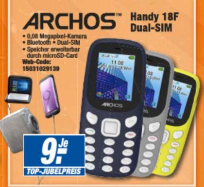 "[Expert Technikmarkt Filialen]Archos Core 18F, 1.77"" Dual Sim Handy in 3 Farben für je 9,-€"