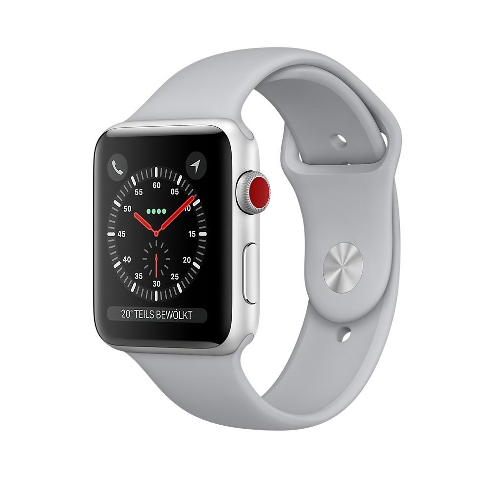 [Schweiz Digitec] Apple Watch Series 3 42 mm Cellular (LTE/4G, Aluminiumgehäuse, Silber, mit Sportarmband, Nebel)