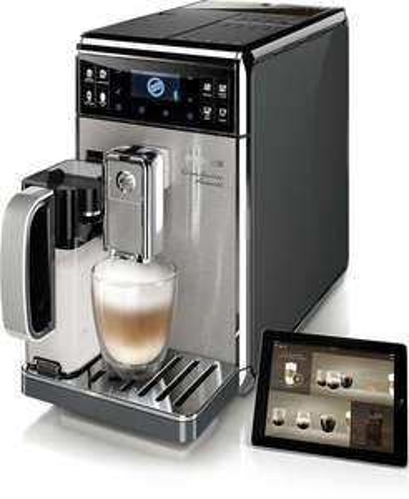 [philips@eBay] SAECO HD8978/01 Gran Baristo Avanti - Kaffeevollautomat (1.7 Liter Wassertank, 15 bar, Keramik-Scheibenmahlwerk, LCD, Bluetooth 4.0 LE, Avanti App) inkl. Milchkanne in edelstahl-silber als Neuware mit beschädigter OVP