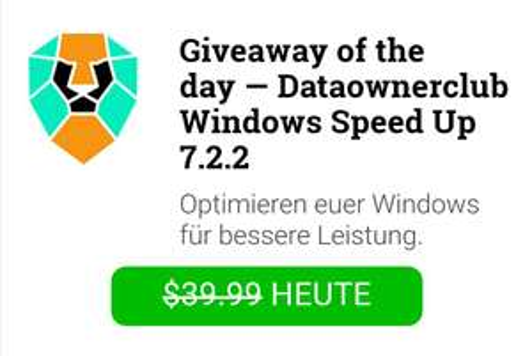 Dataownerclub Windows Speed Up