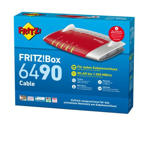 Expert Teichert AVM FRITZ!Box 6490 Kabel WLAN Router