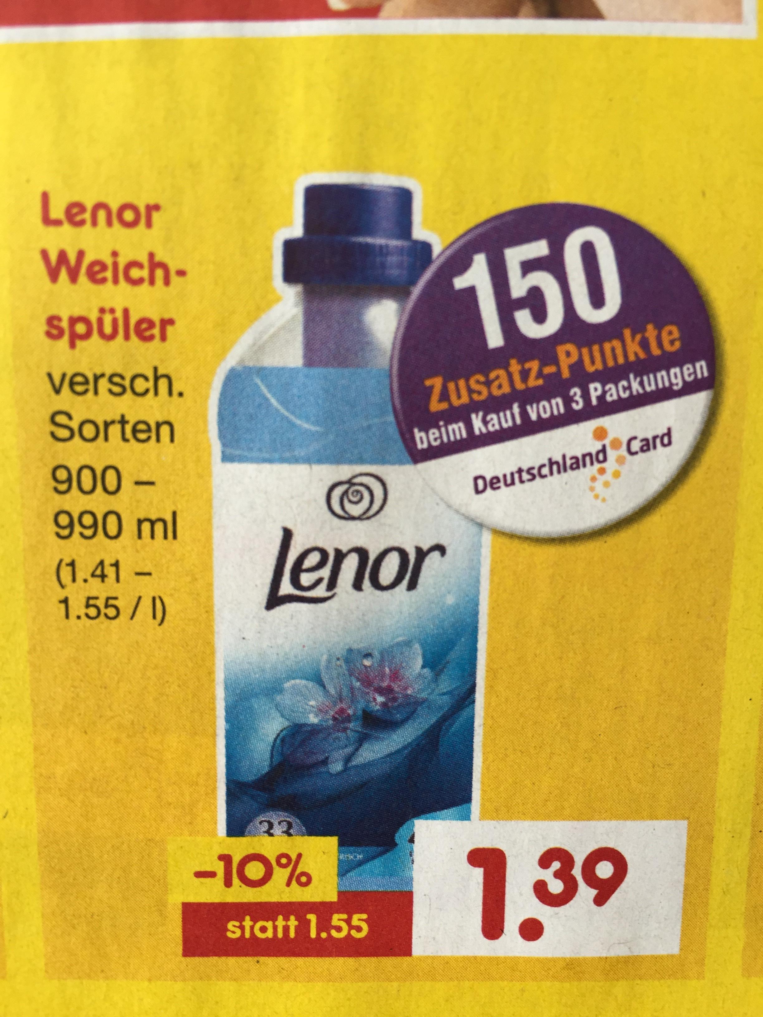 [Netto MD] Lenor 3 Flaschen abzüglich 150 DeutschlandCard Punkte Für € 2,67