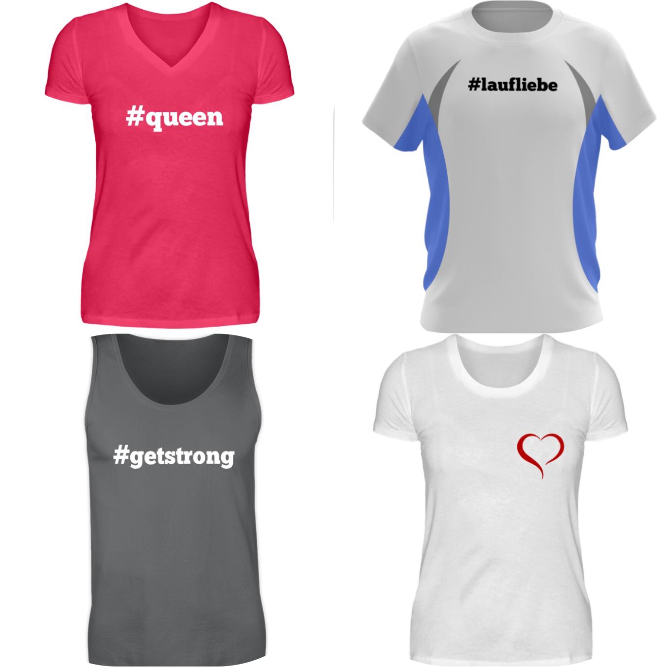 5€ Rabatt auf modern designte T-Shirts / Laufshirts und mehr