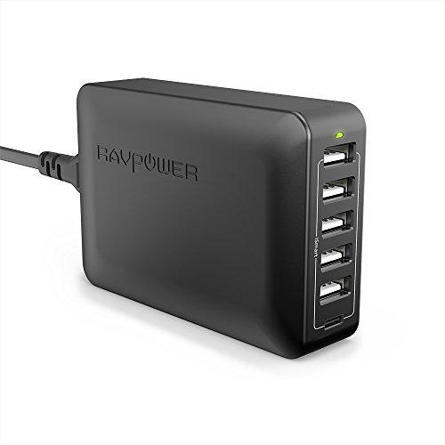 RAVPower 6-Port USB-Ladegerät, davon 1x USB-C Power Delivery