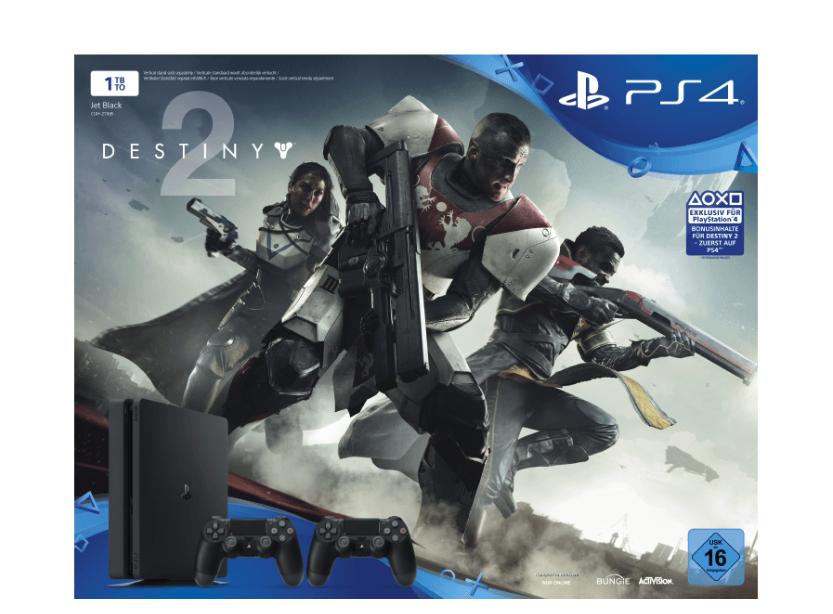 Playstation 4 Bundle (1 TB) + 2 Dualshock Controller + Destiny 2