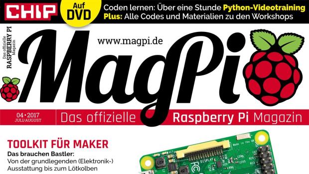 6 digitale Ausgaben (2016 / 2017 ) von CHIP MagPI für Raspberry PI kostenlos downloaden