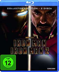Iron Man 1 + 2 Collectors Edition (2x Blu-ray) für 4,05€ (Dodax)