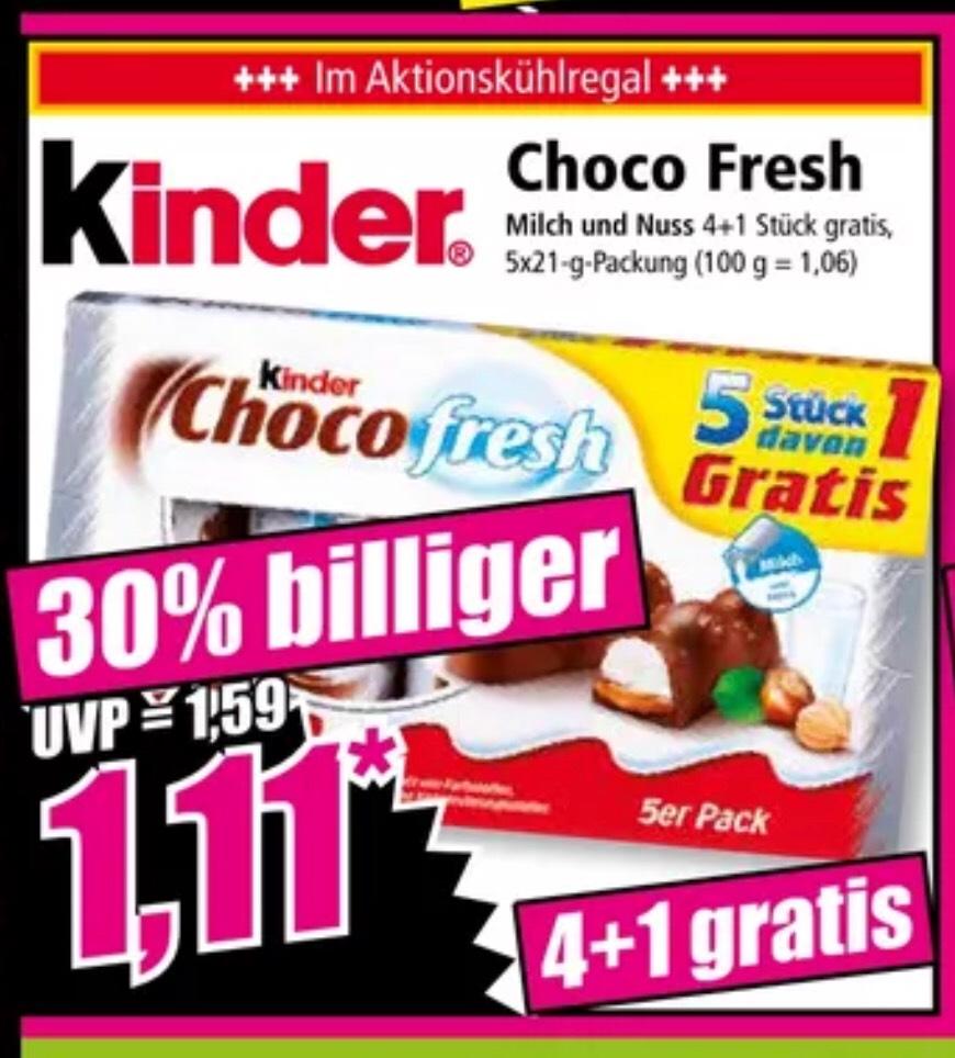 Leckere Kinder Choco fresh im Angebot 1,11€ bei (Norma)