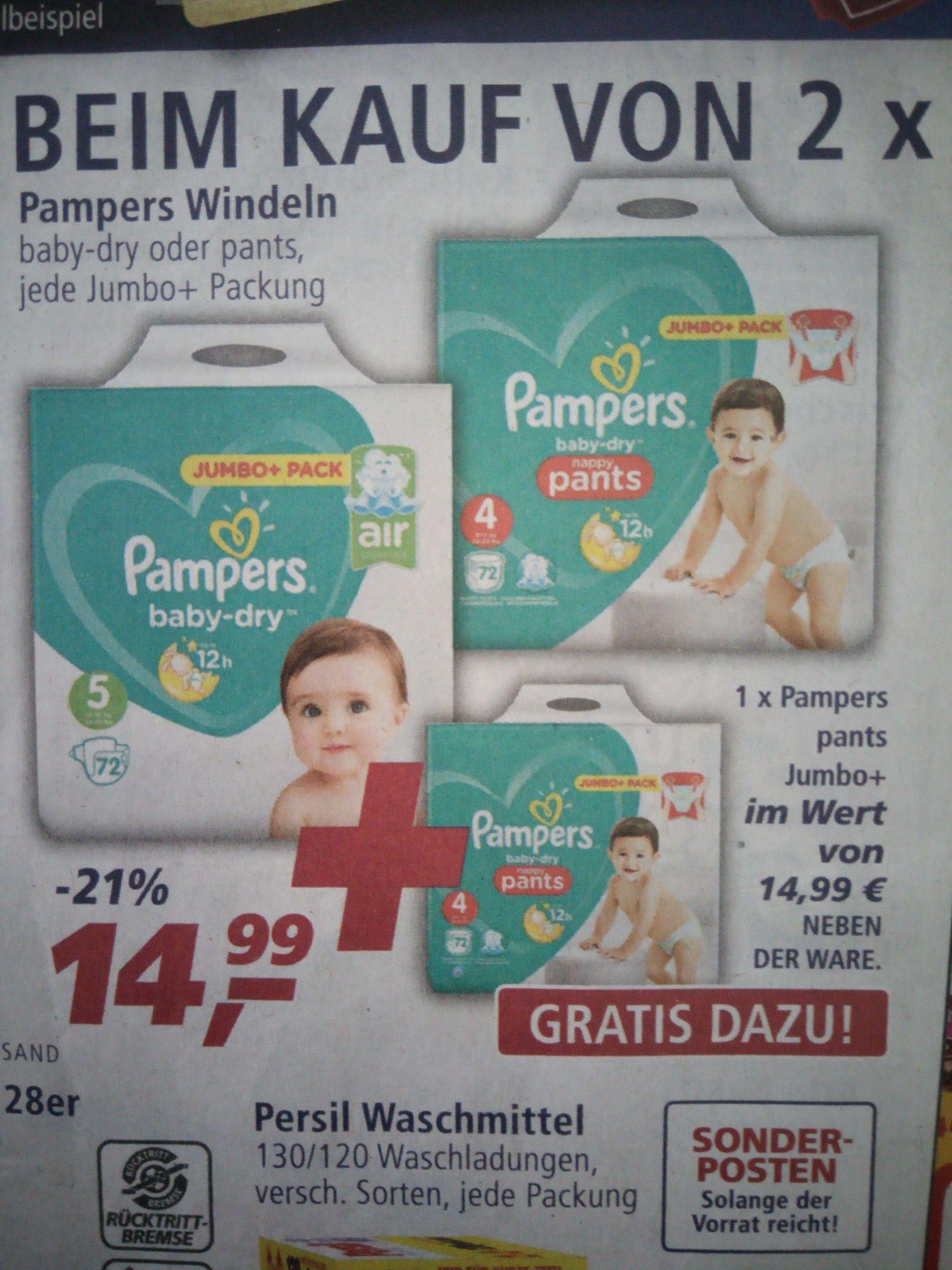 [REAL] 2x Pampers Baby-dry Jumbo+ oder Pants Jumbo+ inkl. gratis Pants Jumbo+