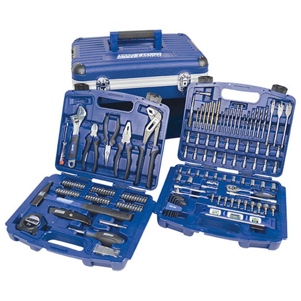 [Real Online] Mannesmann Werkzeugbox mit Schubladen, 163-tlg.