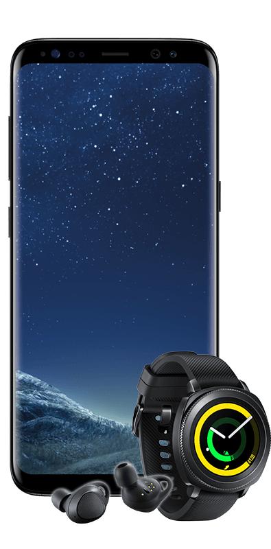 SAMSUNG Galaxy S8 & Gear Sport Smartwatch & Gear IconX 2018 KEIN LTE!!! mit MD Vodafone (2GB bis zu 42,2 Mbit/s)