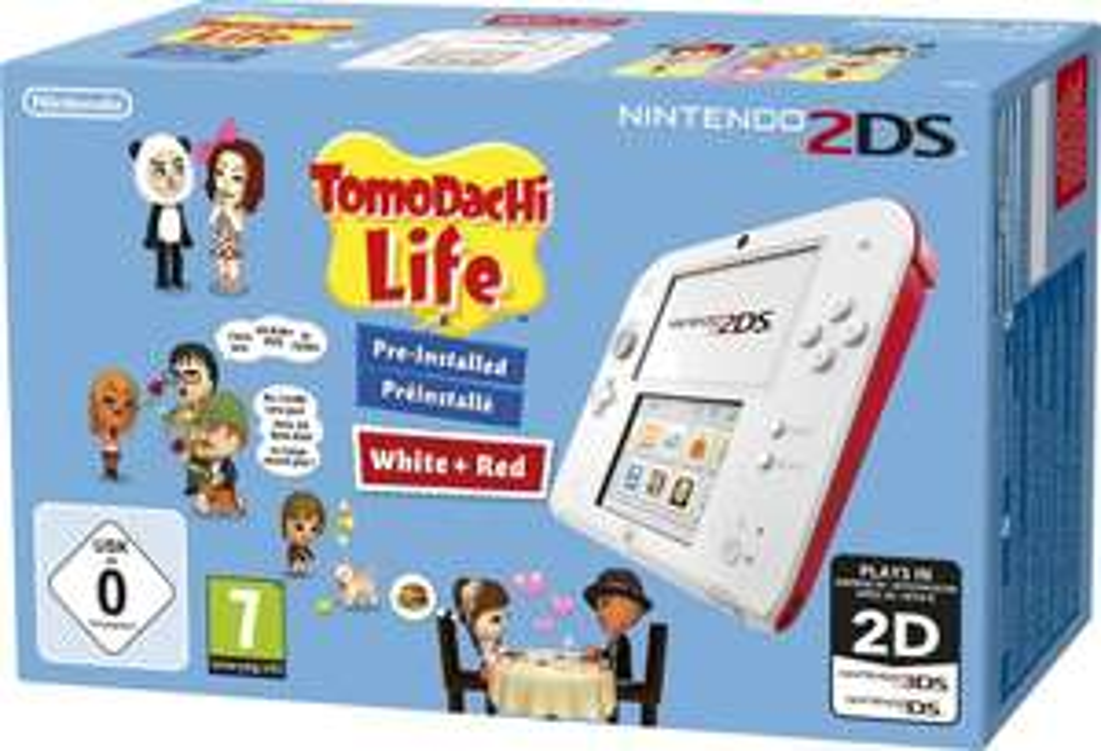 Nintendo 2DS Konsole + Tomodachi Life (vorinstalliert) NEU.