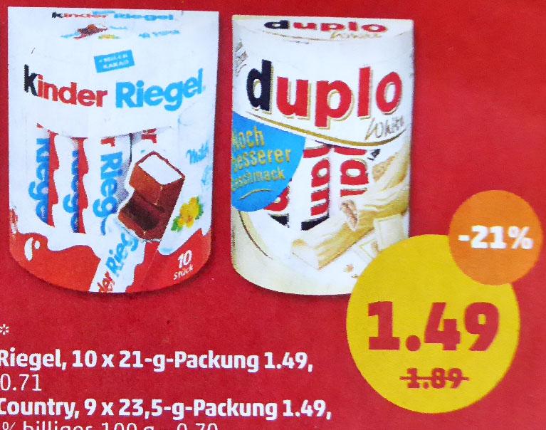 FERRERO Leckereien 21% günstiger für nur 1,49€ @ Penny ab 9.4.