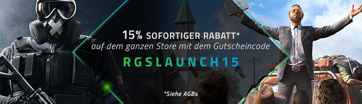 Razer Game Store Eröffnungssale +15% Rabatt auf ein beliebiges Spiel [Razer Game Store]