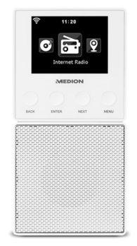 MEDION Steckdosen Internetradio E85032 (MD 87248) weiß für 66,66€ [Medion]