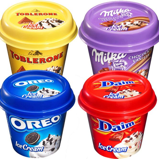 Toblerone, Milka, Daim und Oreo Ice Cream für 99 Cent bei (Aldi Nord ab 16.04.)