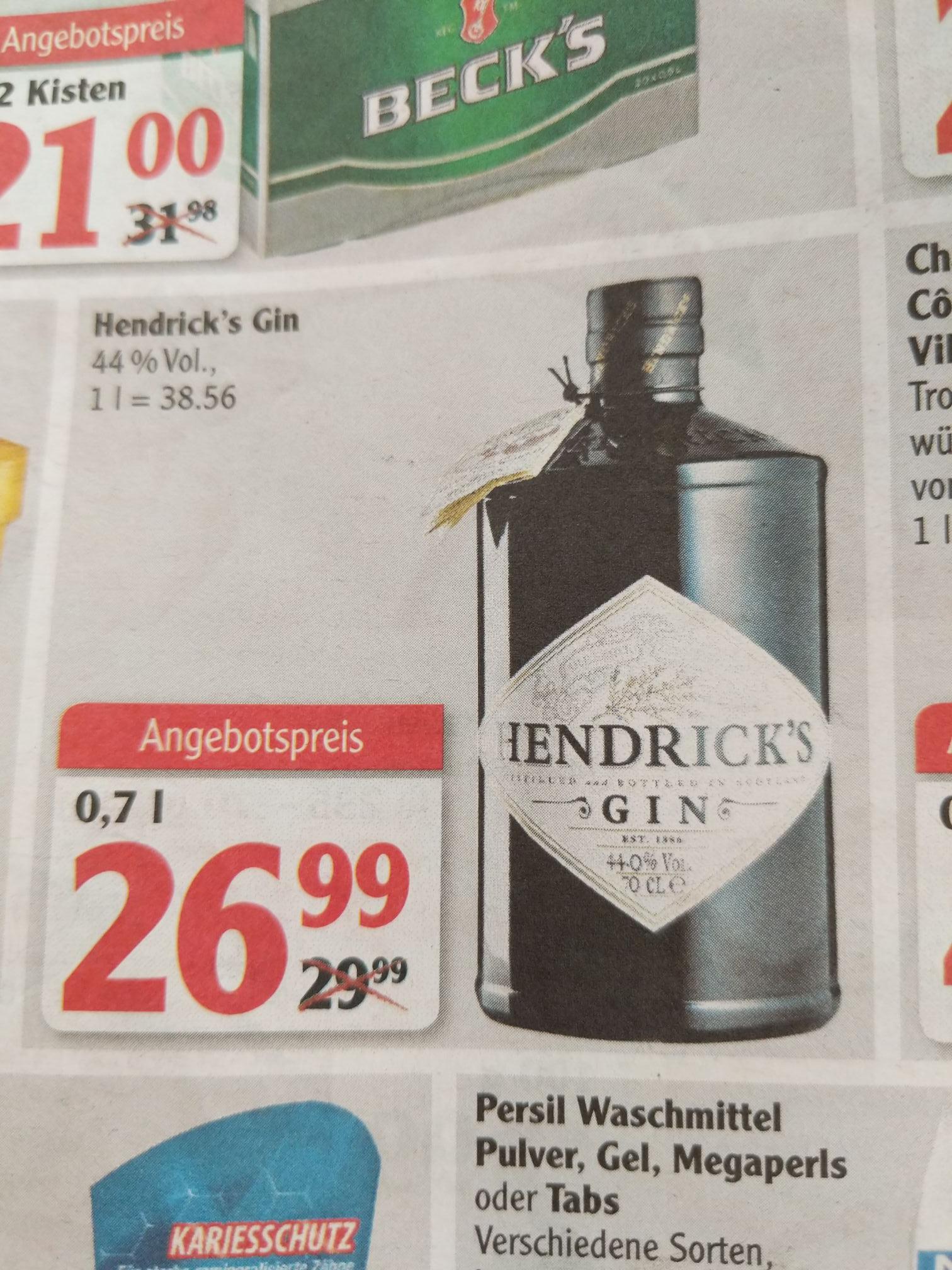 [Globus] Hendricks Gin 0,7 l ab 09.04.18 bis 14.04.18