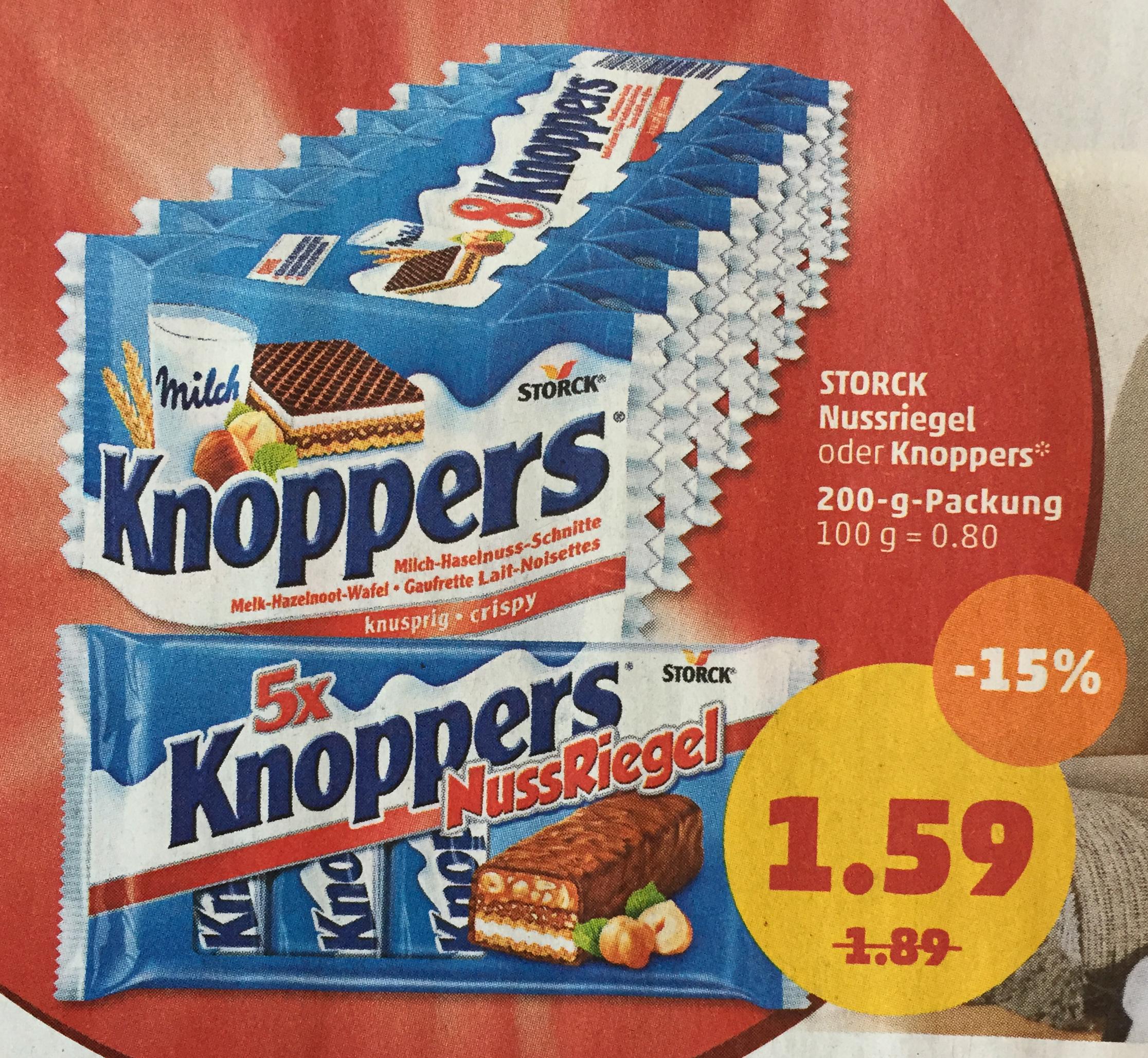 5er Pack Knoppers Nussriegel für 1,59€ ab 09.04.18 bei Penny