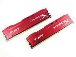 HyperX FURY 8GB (2x4GB) 1600MHz DDR3 CL10, Rot