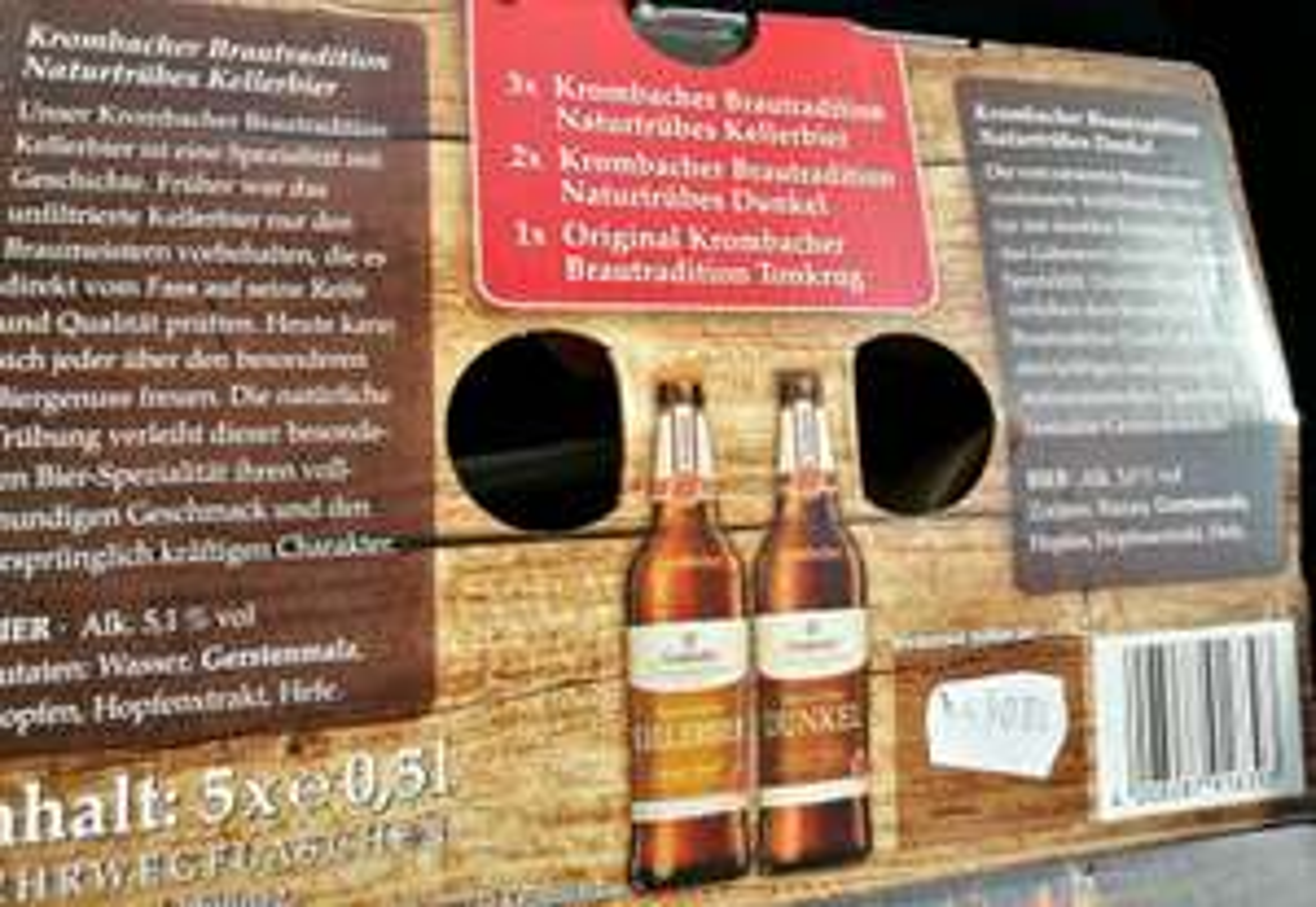 5 x 0.5l Krombacher + original Bierkrug (Lokal Neuss)