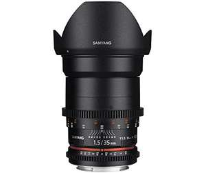 Samyang 35mm T1.5 AS UMC II VDSLR (Canon EF) für 374,85€ [Amazon.es]