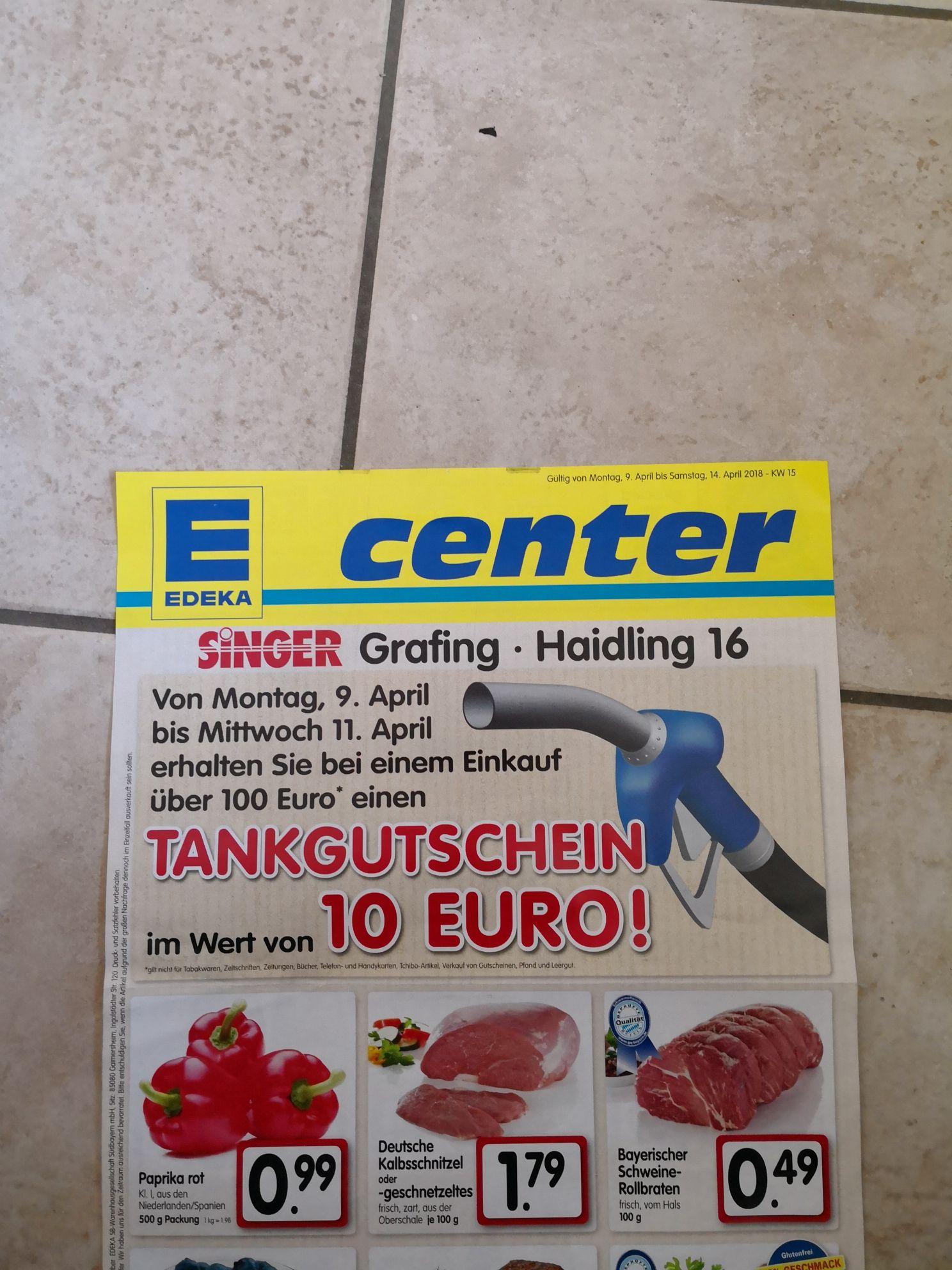 [Lokal - Grafing b. München] 10 EUR Tankgutschein ab 100 EUR Einkauf