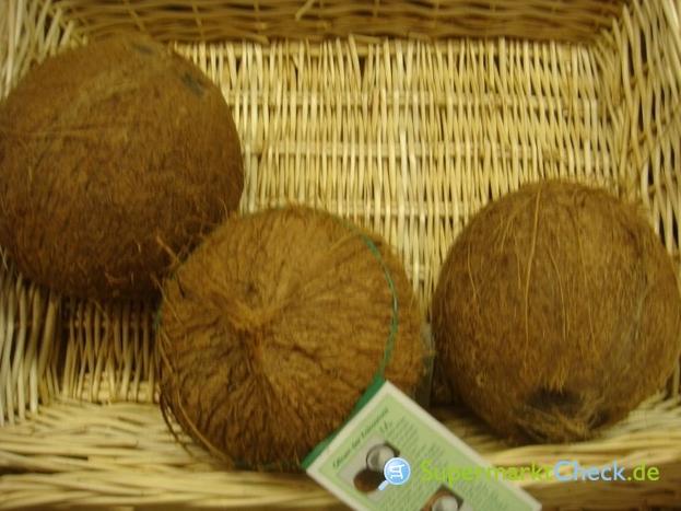 Kokosnuss frisch mit Wasser! (Aldi Süd)