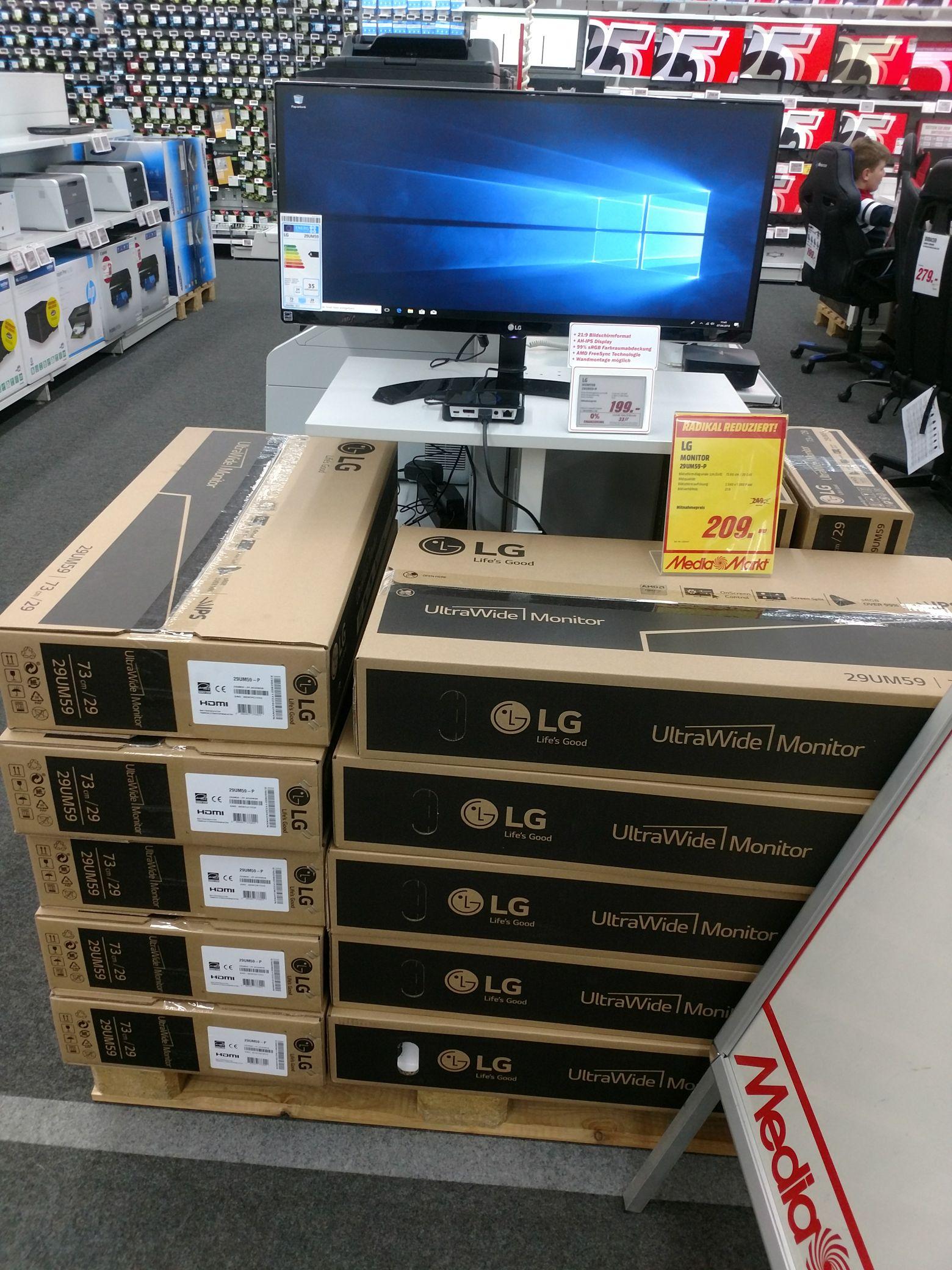 [lokal Dresden Media Markt Elbepark] LG 29UM59-P 29 Zoll Monitor