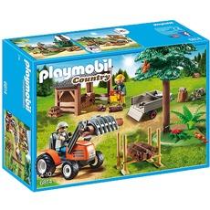 PLAYMOBIL 6814 Holzfäller mit Traktor, Konstruktionsspielzeug