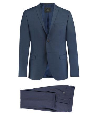 "[engelhorn] s.oliver slim fit Anzug ""cosimo"" (black label), 100% Schurwolle, blau"