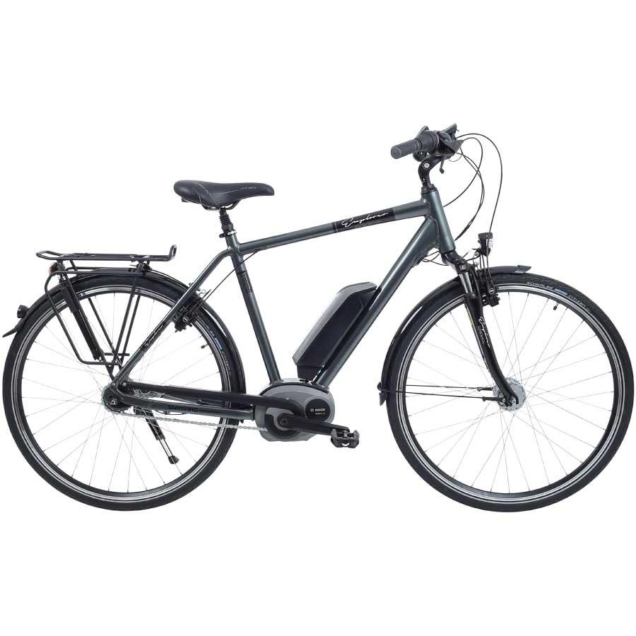 [atu] Explorer eBike Bosch 36V 11Ah, 28 Zoll (Pedelec), 7 Gang, Rücktritt, elektrisch unterstütztes Citybike für Herren, mit 55cm Aluminium-Rahmen in Anthrazit