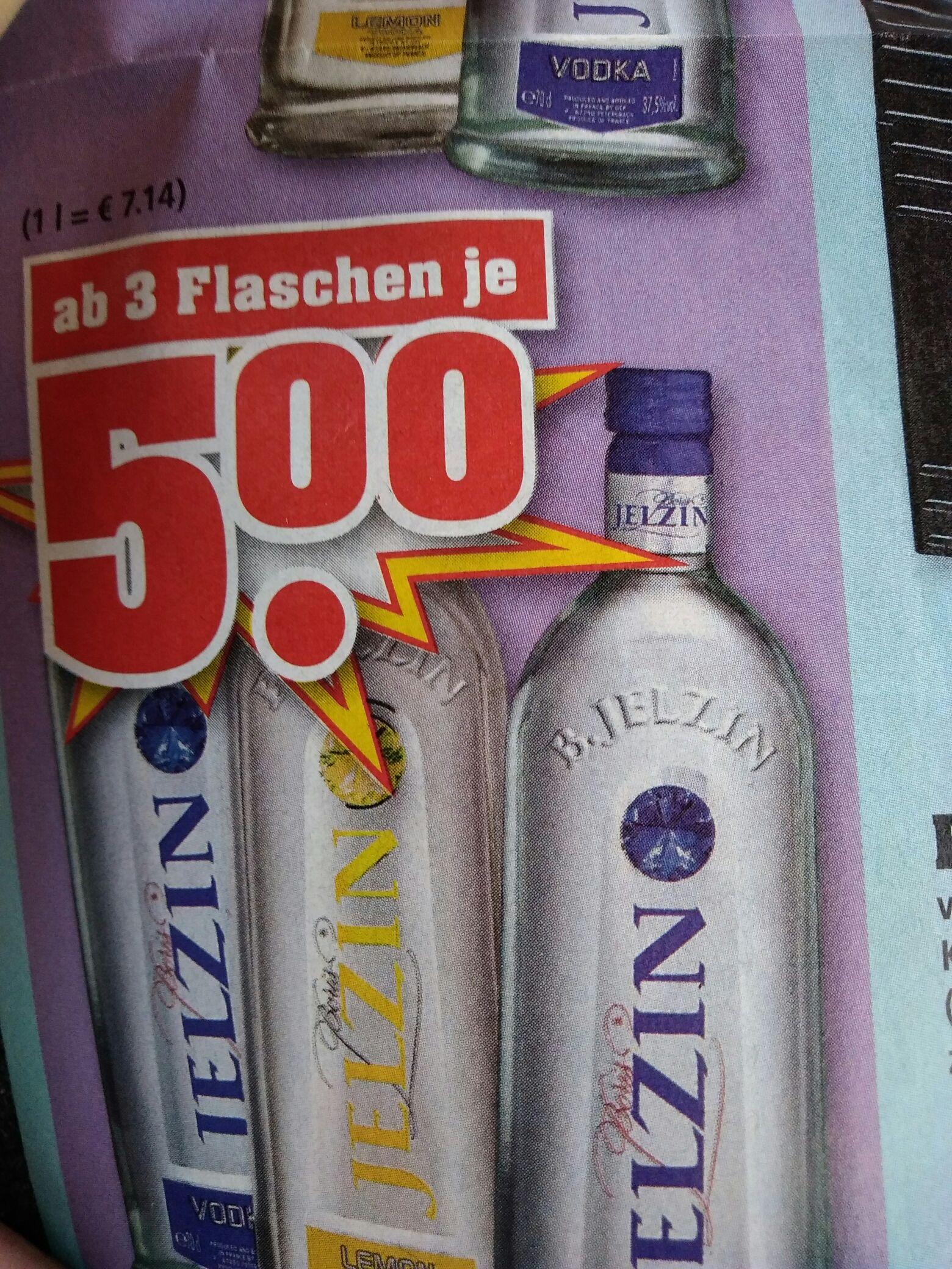 [trinkgut] 3 × Jelzin Vodka 0.7l