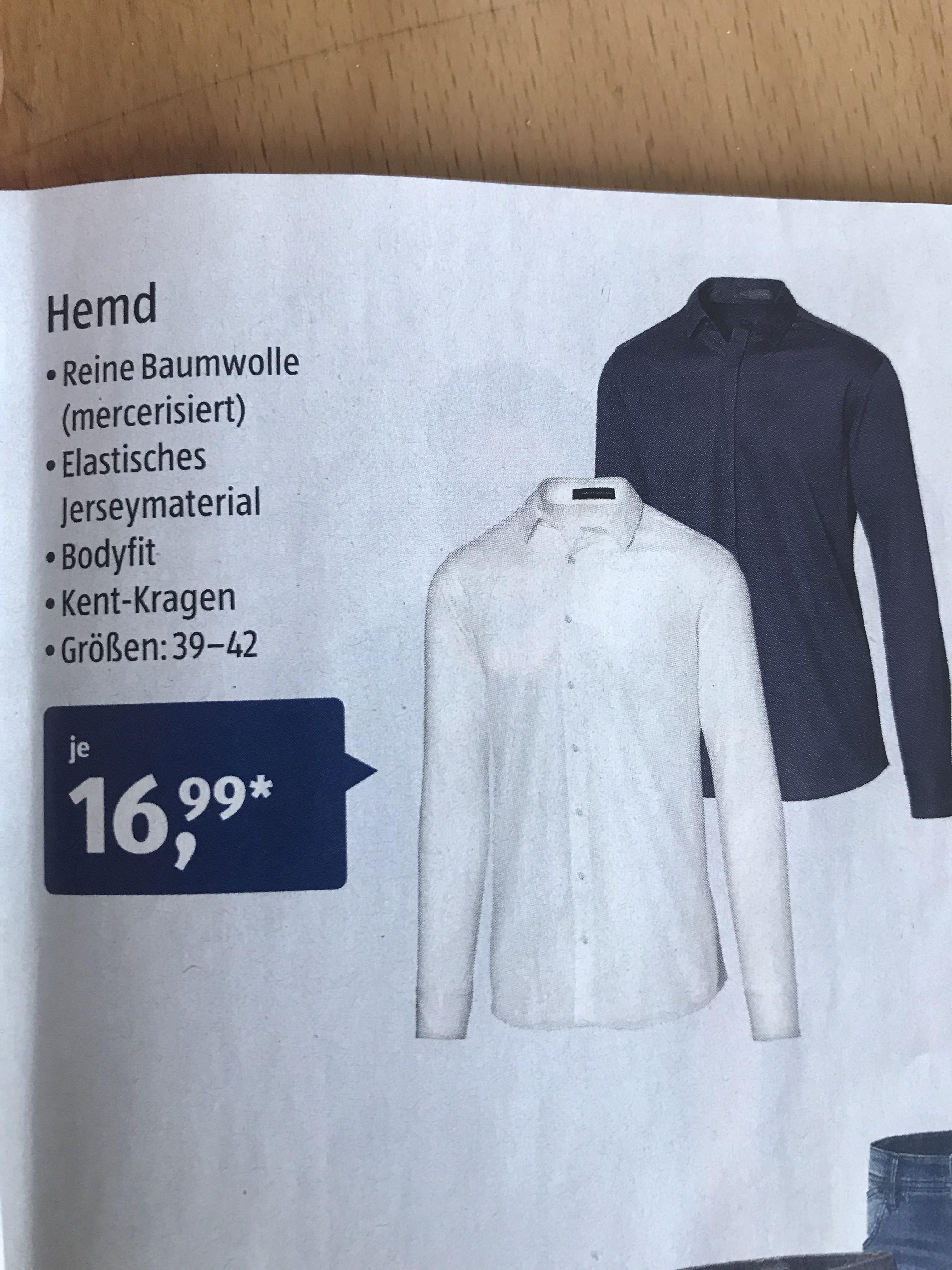 Steffen Schraut Designer Herrenhemd bei ALDI Süd