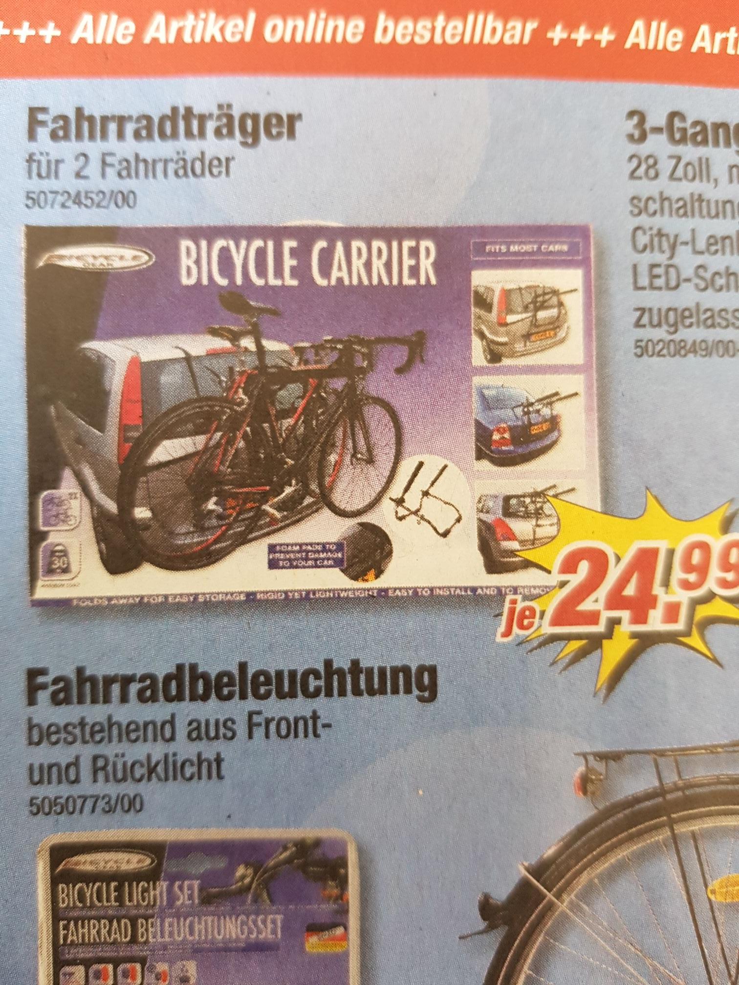 POCO Fahrradträger für 2 Fahrräder keine Anhängerkupplung nötig