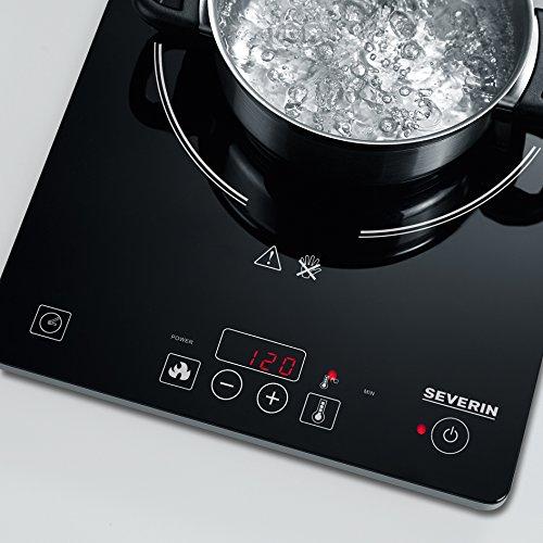Amazon Severin KP 1071 Kochfeld Elektro / Induktion / 28,1 cm / schnelles Erhitzen durch gleichmäßige Wärmeverteilung / schwarz 31,88 Euro