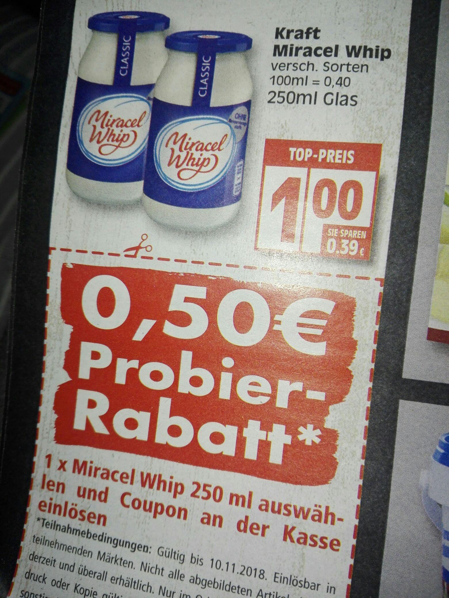 (EDEKA BERLIN LOKAL) Kraft Miracel Whip 250ml Glas