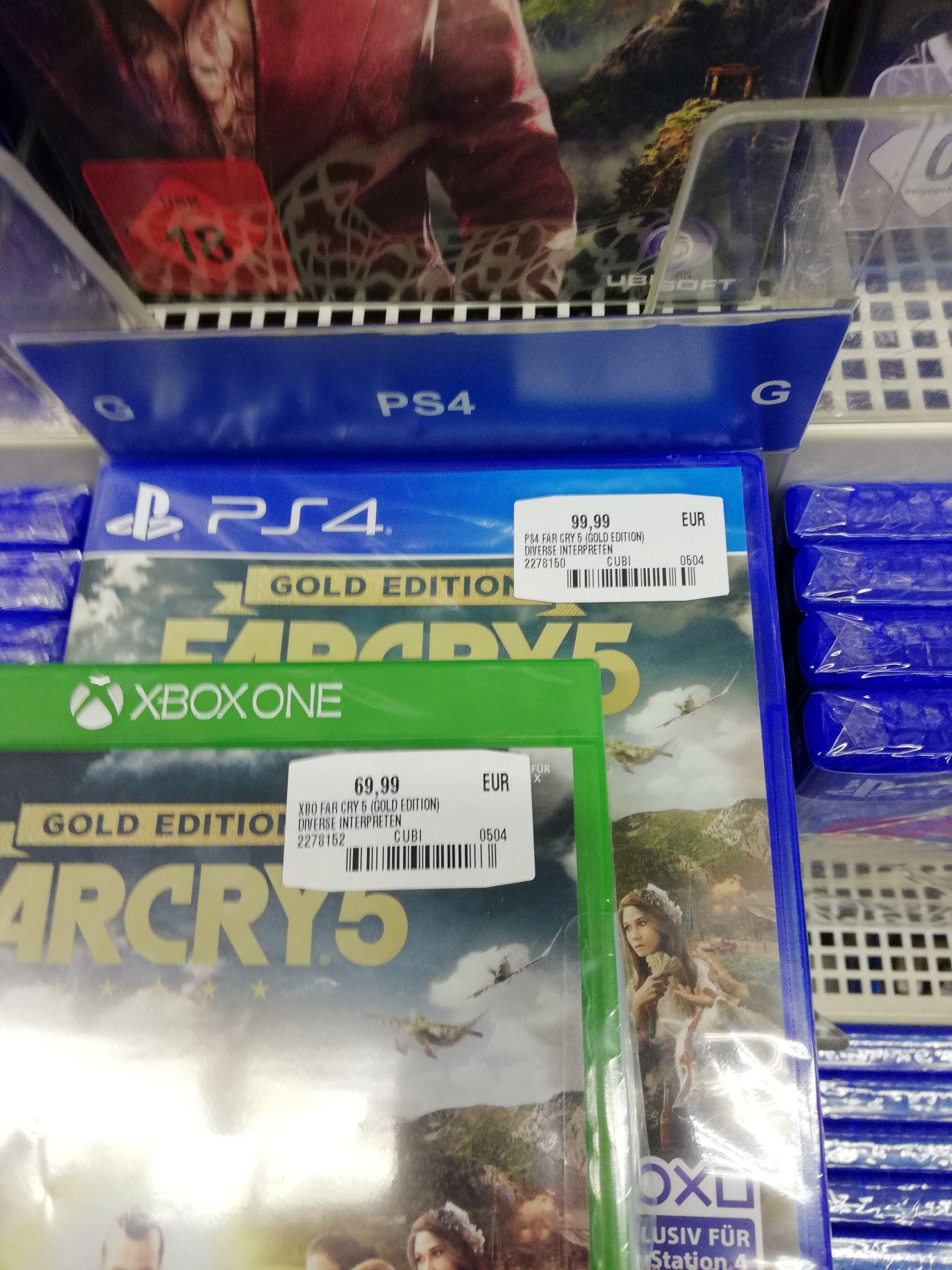 (Media Markt Gründau Lieblos) Far Cry 5 Gold (nur Xbox One!!!)  für 69,99€ statt 99,99€